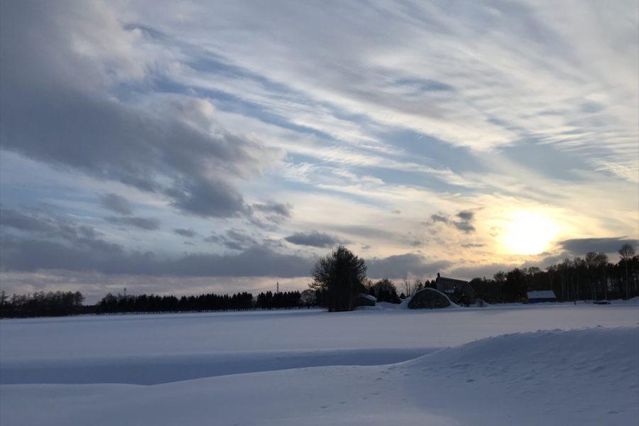 音の無い 雪原の世界