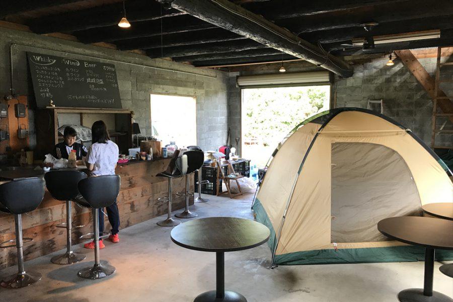 納屋バー+テント