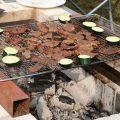 備長炭での焼き肉